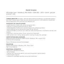 Cosmetologist Resume Template – Medicina-Bg.info