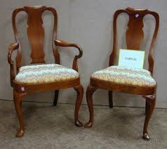 set of ten old hickory chair co queen anne style gany and gany veneer dining