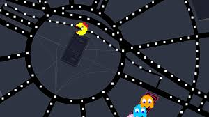 pac man is roaming the streets in google maps right now