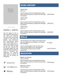 Resume Template Microsoft Word Mac