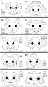 Free printable masquerade masks template for kids. Animal Masks
