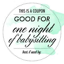 babysitting gift certificate template free babysitting coupon under fontanacountryinn com