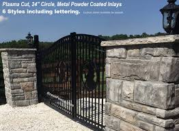 metal fence styles. Style 4 Estate Gate With Bronco Designer Inlay Metal Fence Styles