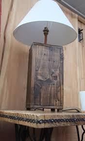 tall rustic wood lamp base chunky reclaimed wood lamp made from reclaimed pallet wood