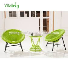green round rattan outdoor coffee chair