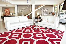 red rugs for living room contemporary red rugs with white striped color also white sofa color red rugs