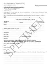Sample Grant Application Form - Loan Fund For Musical Instruments