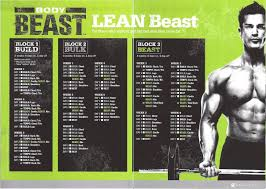Bodybuilding Exercises Chart Free Download Pdf Body Beast Workout Schedule Worksheets And Calendar Downloads