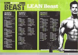 lean beast workout calendar schedule