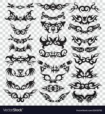 Tribal Tattoo Set Design Element