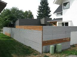 modern metal fence design. Modern Metal Fence And Wood Panels Posts Small Design S
