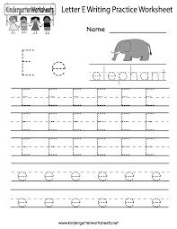 Letter E Worksheets for Preschool Kindergarten Printable