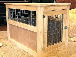 dog crate coffee table diy end kennel walnut pet from furniture style full tab