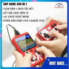 Máy chơi game cầm tay 4 nút SUP 400, cổ điển, loại nhỏ (chế độ 1 người và 2  người chơi) chính hãng