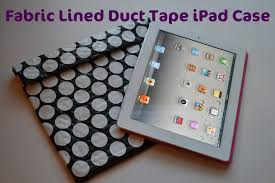 fabric line duct tap ipad case tutorial
