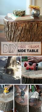 20+ DIYs for Your Rustic Home Decor. Tree Trunk ...