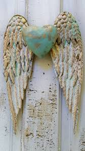 angel wings wall art awesome angel wings wall decor with heart white and gold shabby chic