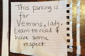 Female Veteran Criticized For Using Veteran S Parking Space