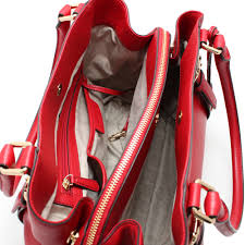 ... Large East West Satchel Bag- Red. Roll on to zoom in