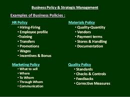 business policy example business policy strategic management