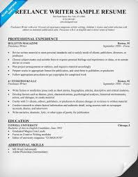 Resume Writing Examples Inspiration Writer Resume Template Freelance Writer Resume Example