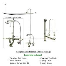 clawfoot tub plumbing kit installing a tub shower