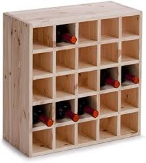 Zeller 13172 <b>Wine Rack</b> 52 x <b>25</b> x 52 cm Natural Wood: Amazon.co ...