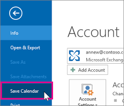 Export An Outlook Calendar To Google Calendar Outlook