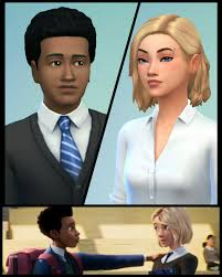Into the Sim-verse? I created Miles and Gwen : thesims