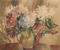 Bonhams : Marcella Smith (British, 1887-1963) Vase of mixed flowers 46 x  54cm (18 x 21 1/4in)