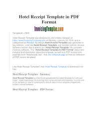 Hotel Receipt Hotel Receipt Template Bill Templates At
