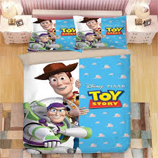 toy story sherif woody buzz lightyear bedding set twin size quilt duvet covers for kids bedroom