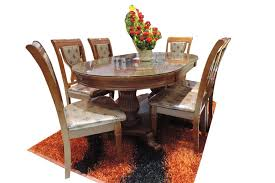 dining room table mirror top: fitfurn  seater oval top mirror dining table set  seater