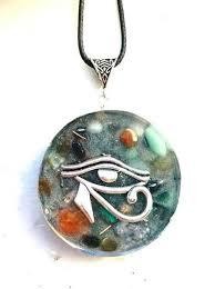 orgone orgonite pendant necklace eye