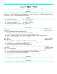 Resume For Hairstylist Hair Stylist Simple Resume Example Hair ...