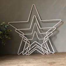 beautiful outline stars rustic white