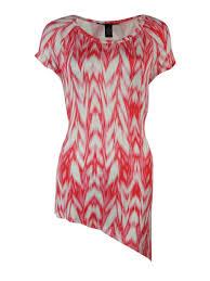 inc international concepts women s asymmetrical hem knit top 1x blur ikat from inc
