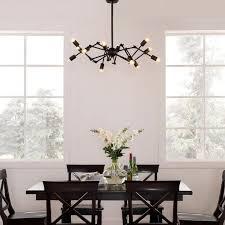 sputnik light fixture traditional dining room