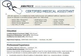 Resume Free Medical Assistant Resume Templates Best Inspiration