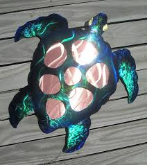 sea turtle wall art copper