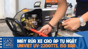 Ghim trên Máy rửa xe cao áp tự ngắt motor UNIVIET UV-2200TTS, Áp lực  150BAR, Công suất 3KW, chạy điện 1 pha