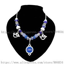 zeta phi beta sorority big bead charm bling necklace jewelry zpb charm necklace