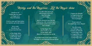 ed on lyrics for let the magic shine theme song for  never miss a moment