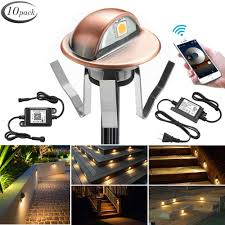 Wifi Outdoor Lights Wifi Deck Lights Fvtled Wifi Controlled 10pcs Low Voltage