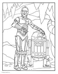 Small Picture R2 D2 and C 3PO Coloring Page Disney Family