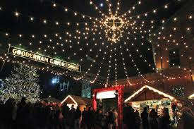 Winter lights the sights of a Christmas market in Toronto The