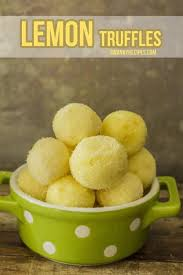 lemon truffles with white sanding sugar creamy rich white chocolate lemon with little cand