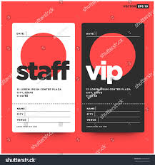 Design Vector Stock 636399590 Vip Entry Staff Card Free Id royalty