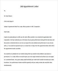 12 Sample Appointment Letters In Doc Sample Templates