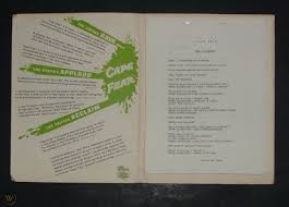 Original Cape Fear Movie Press Kit Robert Mitchum Gregory Peck Barrie Chase